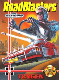 Box cover for Road Blasters on the Sega Genesis.