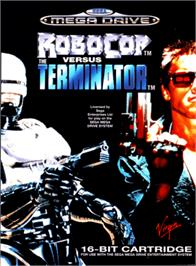 Box cover for Robocop vs. the Terminator on the Sega Genesis.