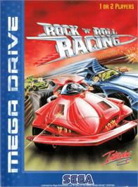 Box cover for Rock 'n Roll Racing on the Sega Genesis.