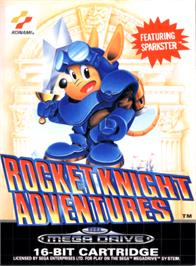 Box cover for Rocket Knight Adventures on the Sega Genesis.