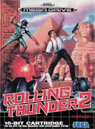 Box cover for Rolling Thunder 2 on the Sega Genesis.