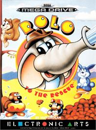 Box cover for Rolo to the Rescue on the Sega Genesis.