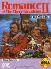 Box cover for Romance of the Three Kingdoms 2 on the Sega Genesis.