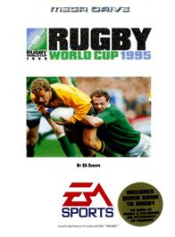 Box cover for Rugby World Cup 95 on the Sega Genesis.