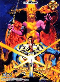Box cover for Saint Sword on the Sega Genesis.