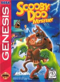 Box cover for Scooby Doo Mystery on the Sega Genesis.