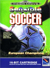 Box cover for Sensible Soccer: European Champions: 92/93 Edition on the Sega Genesis.