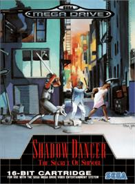 Box cover for Shadow Dancer: The Secret of Shinobi on the Sega Genesis.
