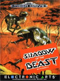 Box cover for Shadow of the Beast on the Sega Genesis.