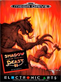 Box cover for Shadow of the Beast 2 on the Sega Genesis.