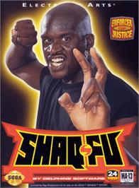 Box cover for Shaq Fu on the Sega Genesis.