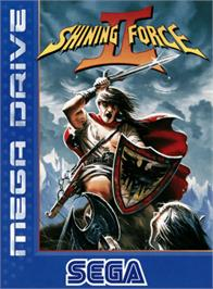 Box cover for Shining Force 2 on the Sega Genesis.