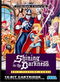 Box cover for Shining in the Darkness on the Sega Genesis.
