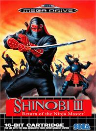 Box cover for Shinobi III on the Sega Genesis.
