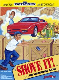 Box cover for Shove It! The Warehouse Game on the Sega Genesis.