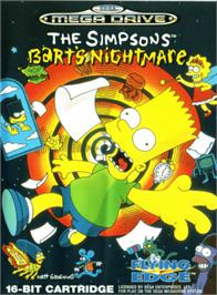 Box cover for Simpsons, The: Bart's Nightmare on the Sega Genesis.