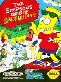 Box cover for Simpsons, The: Bart vs. the Space Mutants on the Sega Genesis.