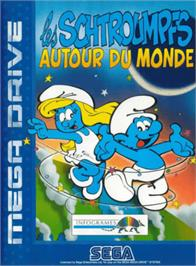 Box cover for Smurfs Travel the World, The on the Sega Genesis.