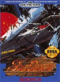 Box cover for Sol-Feace on the Sega Genesis.
