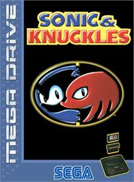 Box cover for Sonic & Knuckles on the Sega Genesis.
