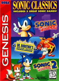 Box cover for Sonic Classics on the Sega Genesis.