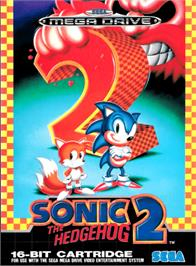 Box cover for Sonic The Hedgehog 2 on the Sega Genesis.