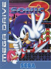 Box cover for Sonic The Hedgehog 3 on the Sega Genesis.