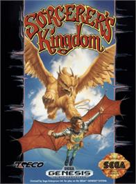 Box cover for Sorcerer's Kingdom on the Sega Genesis.