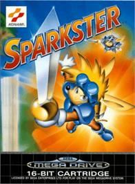Box cover for Sparkster on the Sega Genesis.