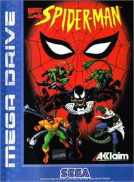 Box cover for Spider-Man: The Animated Series on the Sega Genesis.