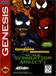 Box cover for Spider-Man & Venom: Separation Anxiety on the Sega Genesis.