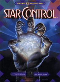 Box cover for Star Control on the Sega Genesis.