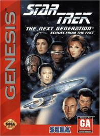 Box cover for Star Trek The Next Generation - Echoes from the Past on the Sega Genesis.