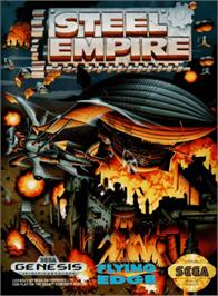 Box cover for Steel Empire, The on the Sega Genesis.