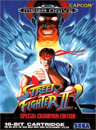 Box cover for Street Fighter II' - Champion Edition on the Sega Genesis.