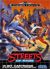 Box cover for Streets of Rage on the Sega Genesis.