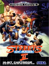 Box cover for Streets of Rage 2 on the Sega Genesis.