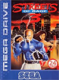 Box cover for Streets of Rage 3 on the Sega Genesis.