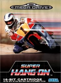 Box cover for Super Hang-On on the Sega Genesis.