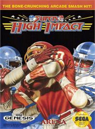 Box cover for Super High Impact on the Sega Genesis.