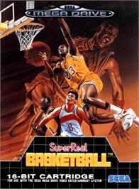 Box cover for Super Real Basketball on the Sega Genesis.