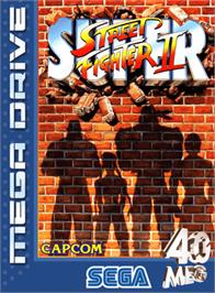 Box cover for Super Street Fighter II - The New Challengers on the Sega Genesis.