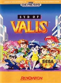Box cover for Syd of Valis on the Sega Genesis.
