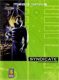 Box cover for Syndicate on the Sega Genesis.
