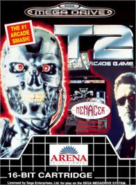 Box cover for T2 - The Arcade Game on the Sega Genesis.