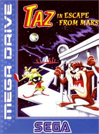 Box cover for Taz in Escape from Mars on the Sega Genesis.