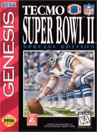 Box cover for Tecmo Super Bowl II: Special Edition on the Sega Genesis.