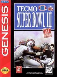 Box cover for Tecmo Super Bowl III: Final Edition on the Sega Genesis.