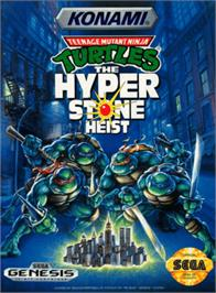 Box cover for Teenage Mutant Ninja Turtles: The HyperStone Heist on the Sega Genesis.