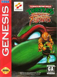 Box cover for Teenage Mutant Ninja Turtles: Tournament Fighters on the Sega Genesis.